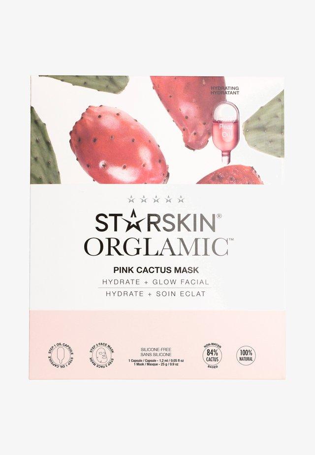 STARSKIN ® ORGLAMIC™ PINK CACTUS MASK - Ansiktsvårdsset - -