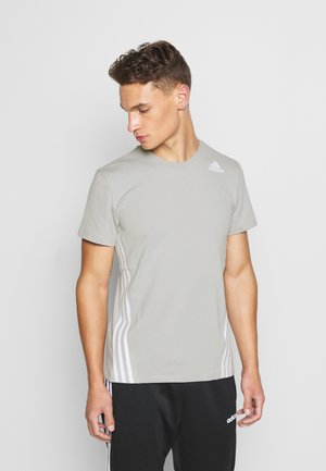 PRIMEGREEN TRAINING SPORTS SHORT SLEEVE TEE - Print T-shirt - metal grey