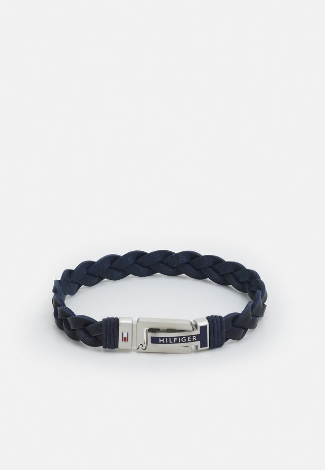 FLAT BRAIDED BRACELET - Náramek - blue/silver