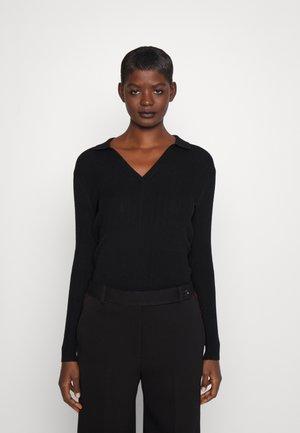 EVERYWEAR JOHNNY COLLAR - Stickad tröja - black