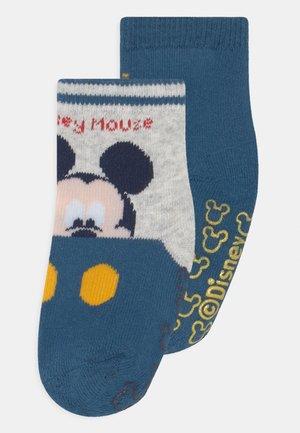 BABY MICKEY ANTISLIPPER BOY 2 PACK - Socks - blue/grey