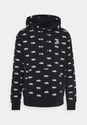 CLUB HOODIE SCRIPT - Sweat à capuche - black/white
