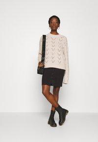 ONLY - ONLEMILY LONG SKIRT MAE - Pencil skirt - black - 1