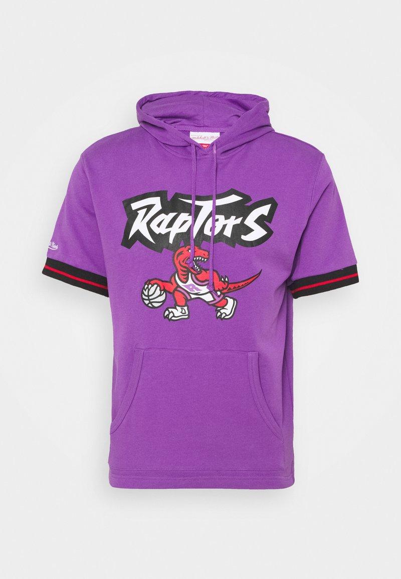 Mitchell & Ness - TORONTO RAPTORS SHORT SLEEVE HOODY - Article de supporter - raptors purple