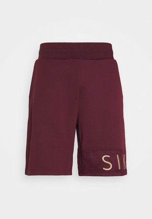 EYELET SHORTS - Shorts - burgundy/gold