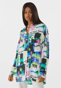 Bershka - MIT PRINT  - Button-down blouse - stone - 0