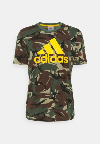 CAMO - Print T-shirt - green oxide/semi solar gold