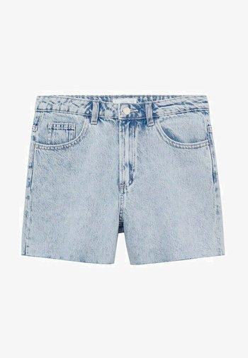 LAUREN - Denim shorts - lichtblauw