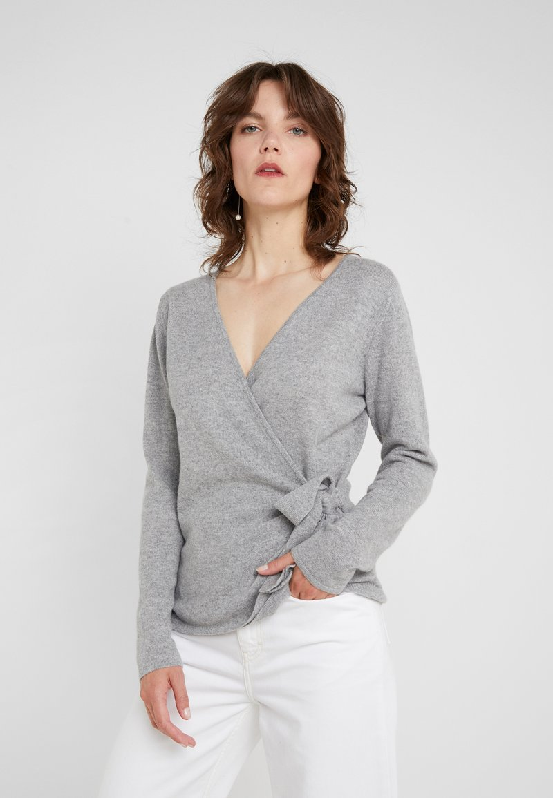 Davida Cashmere - WRAP - Cardigan - light grey