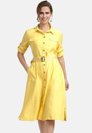 Shirt dress - hellgelb