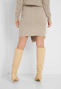 ORSAY - Wrap skirt - autumn beige - 2