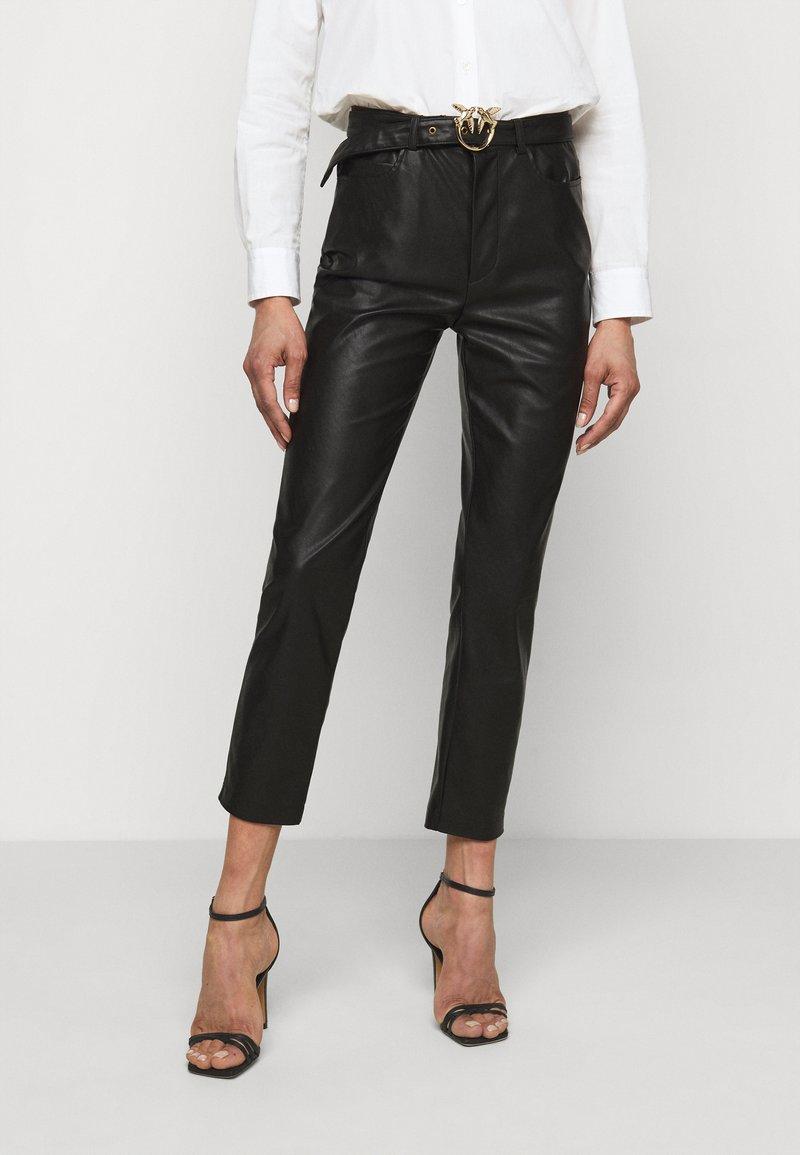 Pinko - SUSAN TROUSERS - Spodnie materiałowe - black