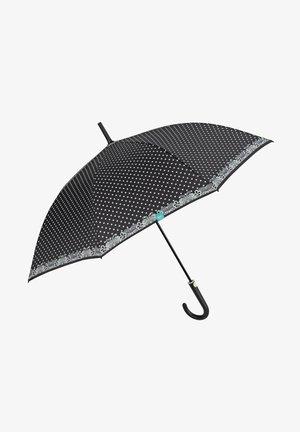 LONG UMBRELLA WITH POLKA DOTS - Umbrella - nero
