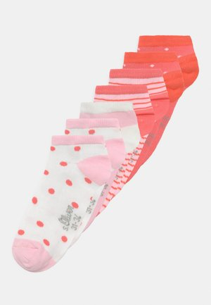ONLINE JUNIOR PATTERNED 7 PACK - Socks - hot coral