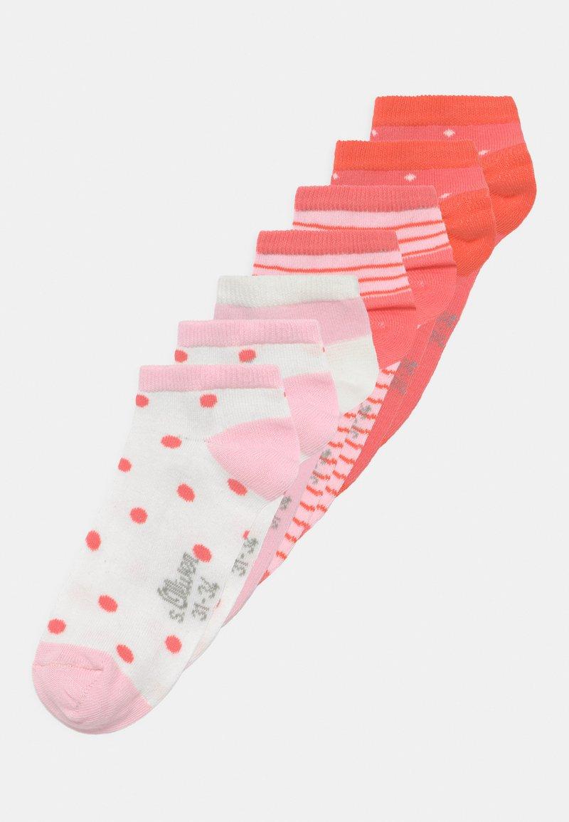 s.Oliver - ONLINE JUNIOR PATTERNED 7 PACK - Socks - hot coral