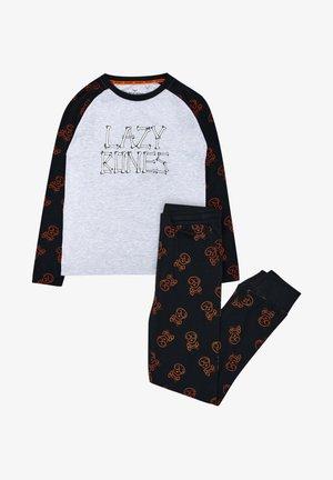 SET - Pyjama - black/grey/red