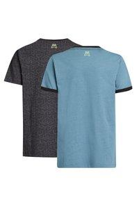 WE Fashion - 2 PACK - Print T-shirt - blue, light grey - 1