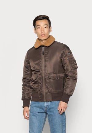 OHARA - Bomber Jacket - dark brown/rust