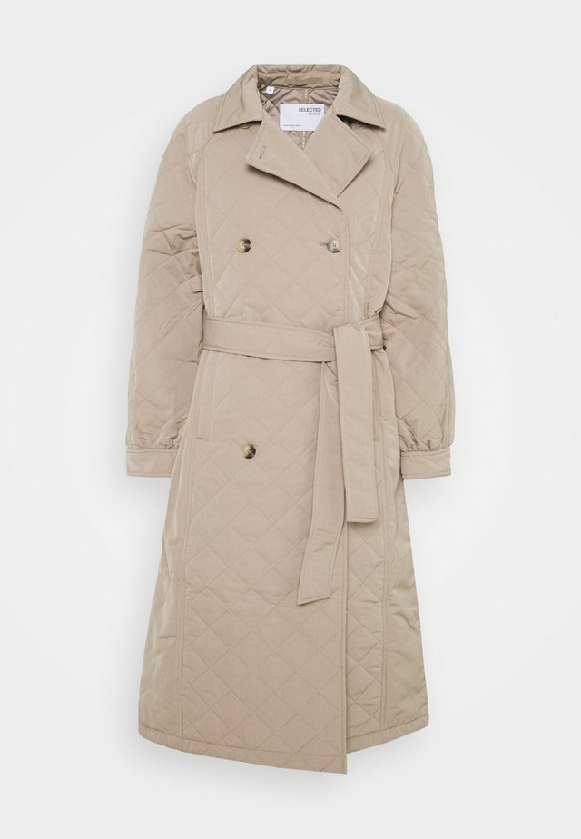 SLFNINNA QUILTED  - Trenchcoats - silver mink