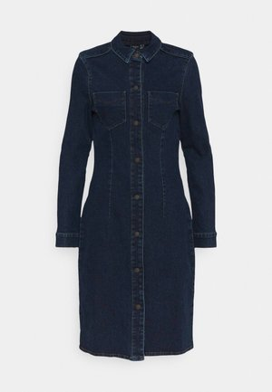 VMGRACE SLIM BUT DRESS - Denimové šaty - dark blue denim