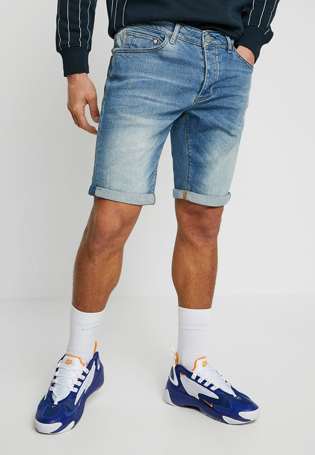 JASON - Jeansshort - blue denim