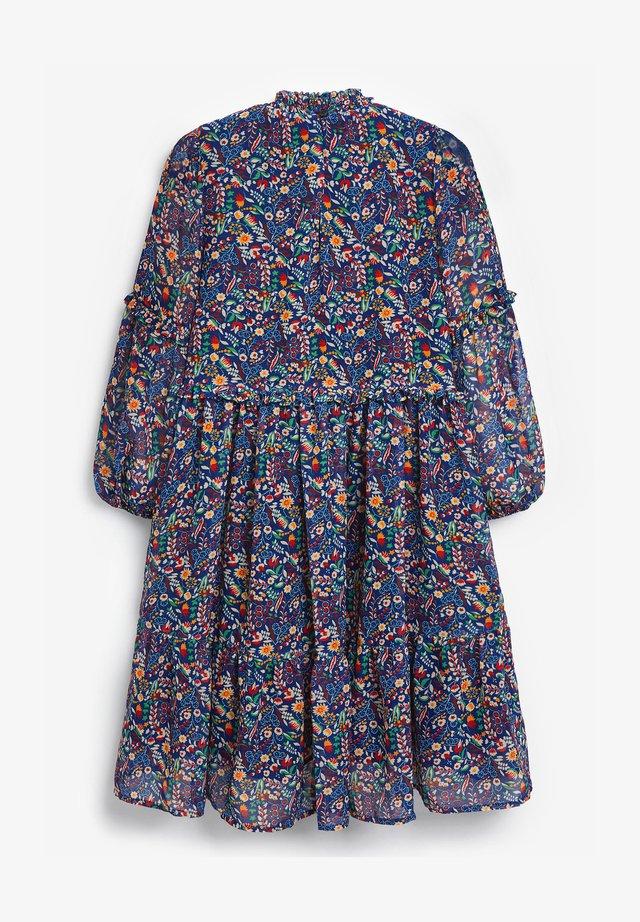 FLORAL TIERED CHIFFON - Robe d'été - blue