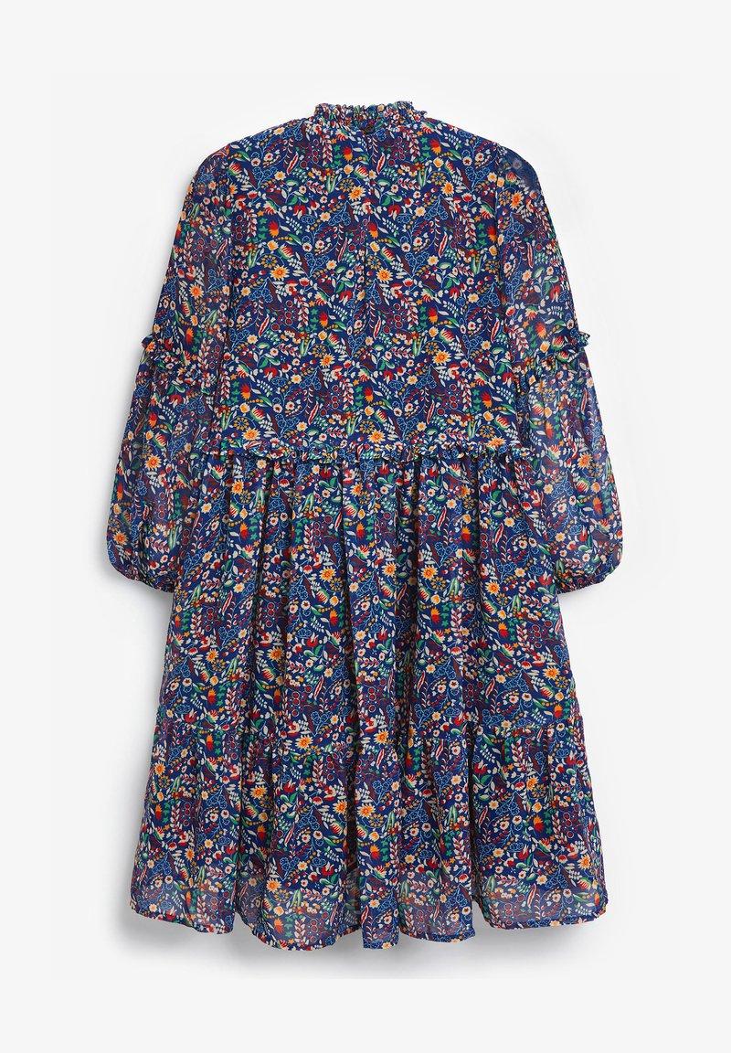 Next - FLORAL TIERED CHIFFON - Robe d'été - blue