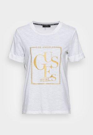 SIMONNE  - T-shirt imprimé - pure white