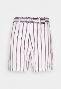 Tommy Hilfiger - STRIPED BERMUDA - Shorts - global/white - 0