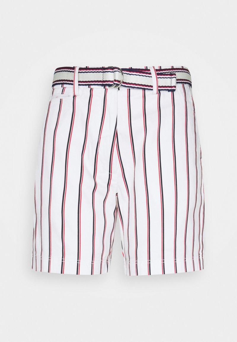 Tommy Hilfiger - STRIPED BERMUDA - Shorts - global/white