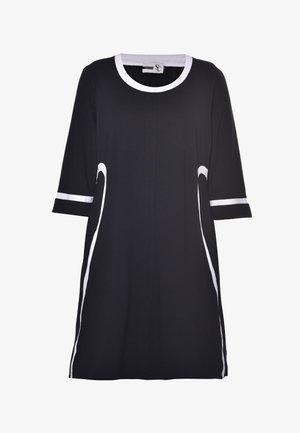 JOAN - Jersey dress - black white stripe