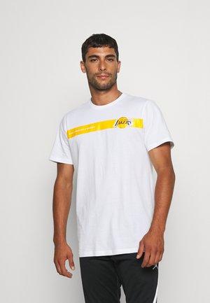 NBA LOS ANGELES LAKERS TEAM LOGO TEE - Club wear - white