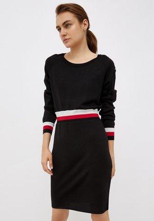 LUREX - Jumper dress - black