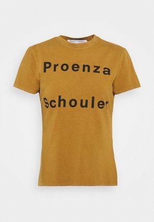 SOLID LOGO  - T-shirt con stampa - khaki