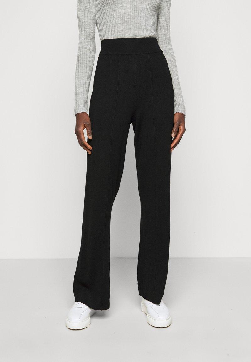 YAS Tall - YASFIBA PANTS  - Trousers - black