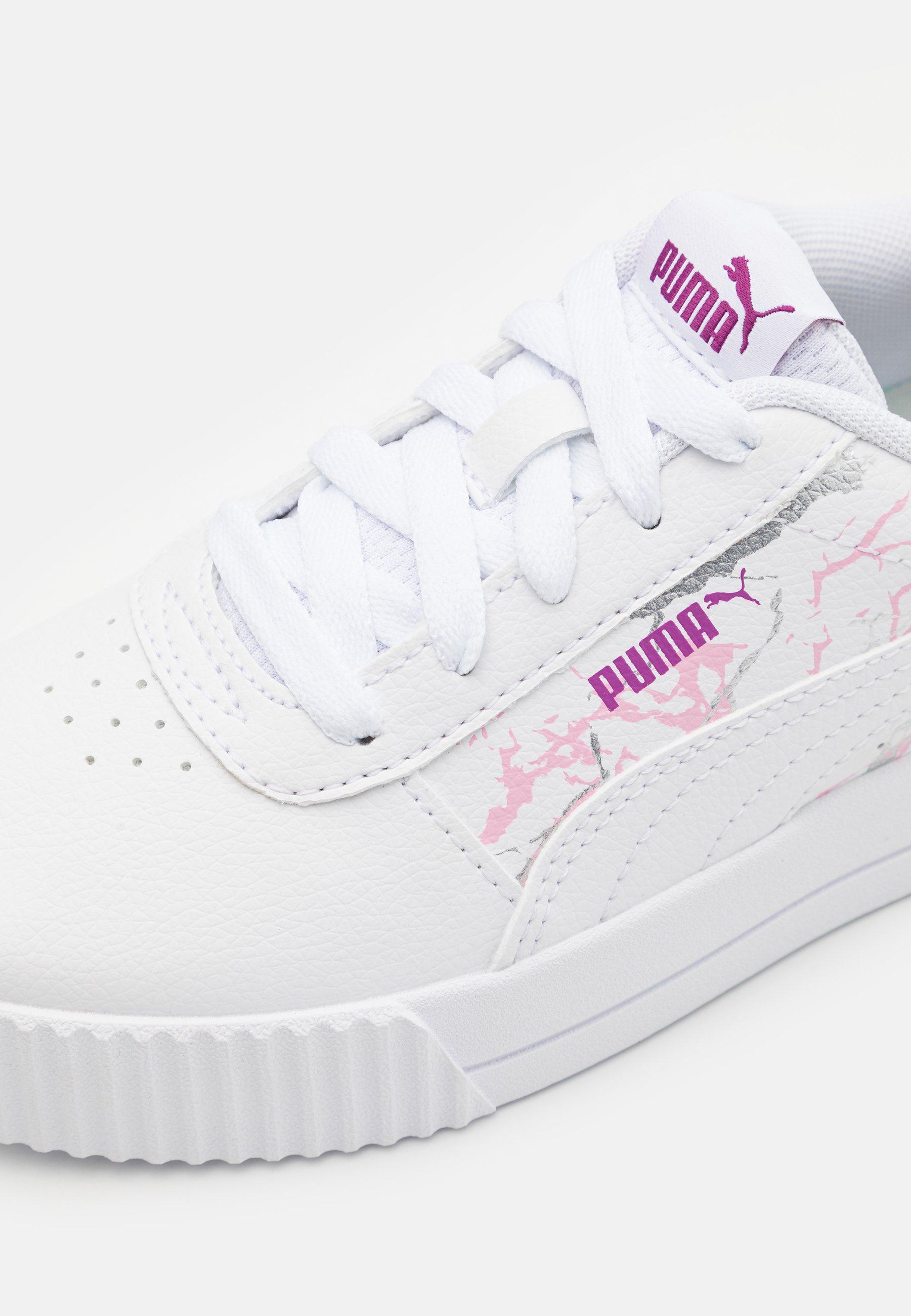 Puma CARINA MARBLE GLITTER - Baskets basses - white/blanc - ZALANDO.FR