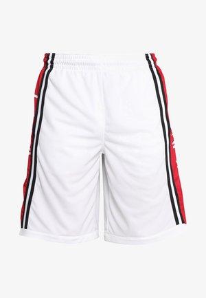 BASKETBALL SHORT - Sports shorts - white/gym red/black