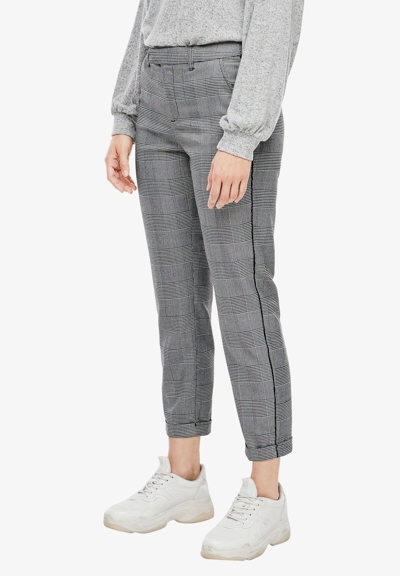Q/S designed by - Trousers - grey check