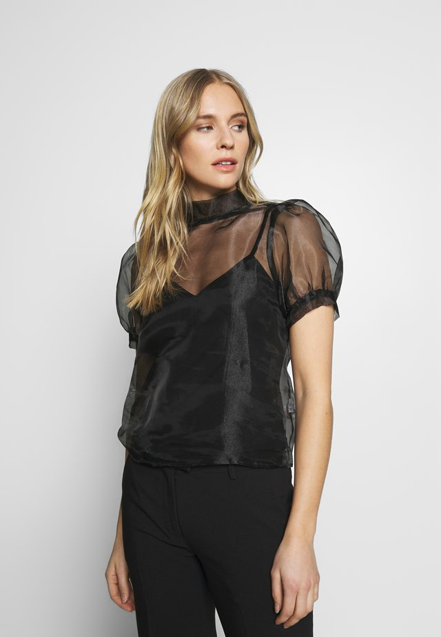 PUFF SLEEVE - Blouse - black