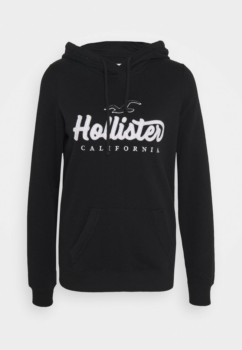 Hollister Co. TECH CORE - Kapuzenpullover - black/schwarz 431ohE