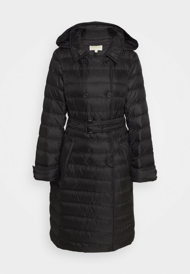 PACKABLE TRENCH PUFFR - Donsjas - black