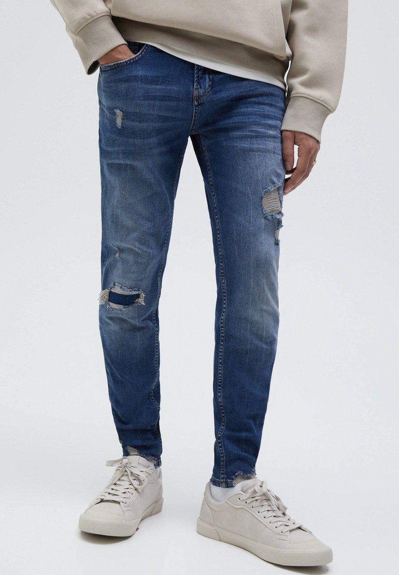 PULL&BEAR - Jeans Skinny Fit - mottled blue