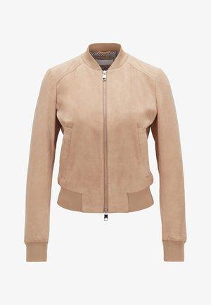 JORCHID - Leather jacket - beige