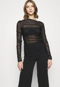 Weekday - MARGERIE LONG SLEEVE - Long sleeved top - solid black - 3
