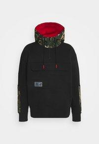 Tommy Jeans - CAMO HOODIE - Sweatshirt - black - 0
