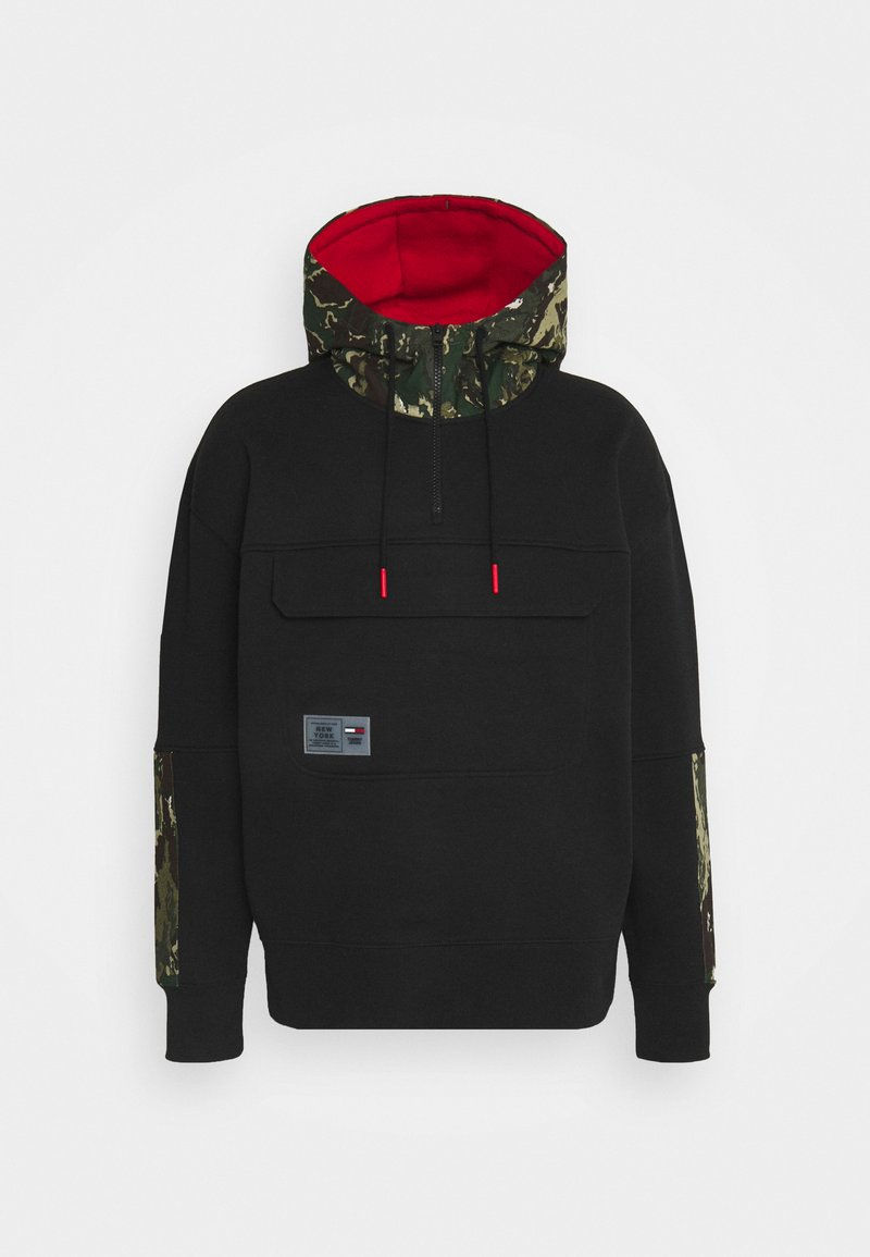 Tommy Jeans - CAMO HOODIE - Sweatshirt - black