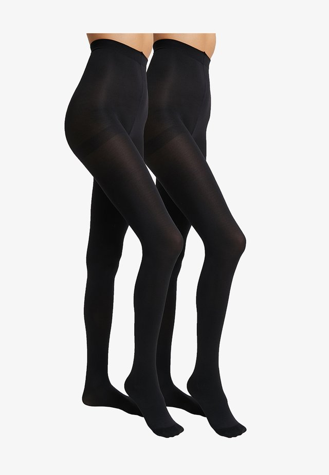 80 DENIER 2 PACK - Tights - black