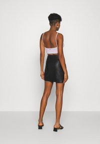 Vila - VIBALINI SHORT SKIRT - Mini skirt - black - 2