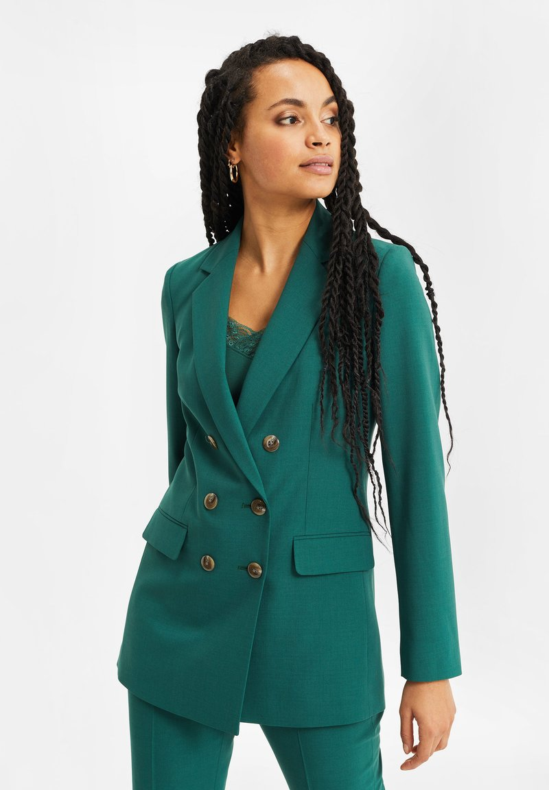 WE Fashion - Halflange jas - green