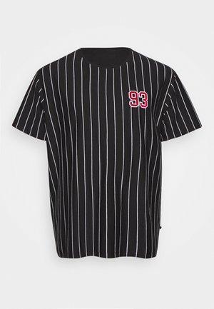 STRIPED TEE APLICATIONS - Print T-shirt - black